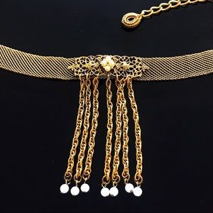 ✨Antique Choker Necklace with Engrave and Beads